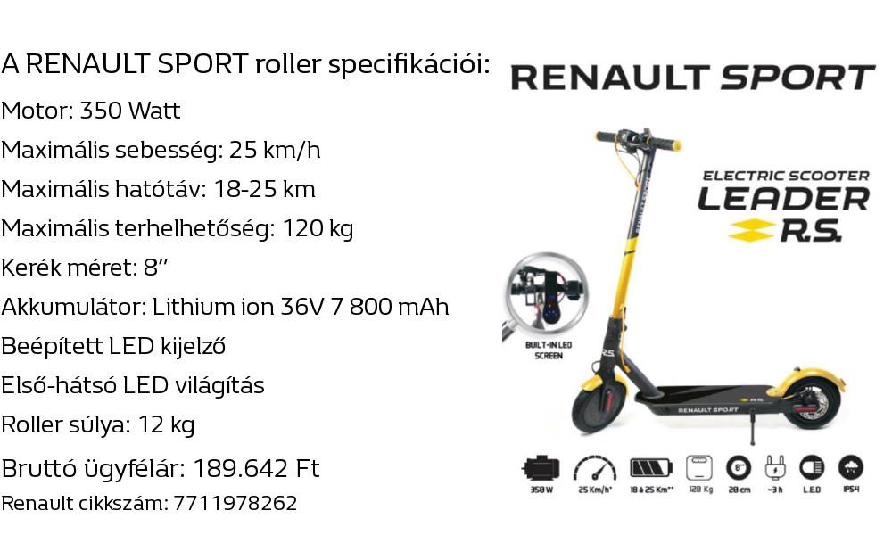 Renault Sport elektromos roller